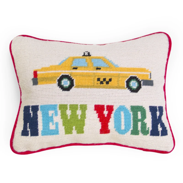Jet Set New York Pillow